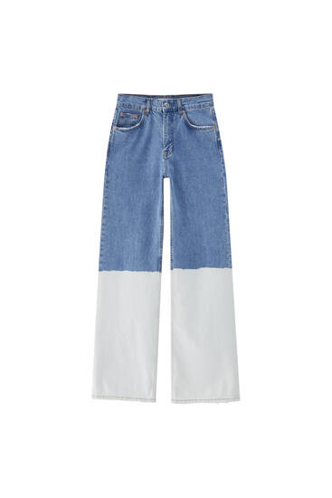 Tie-dye flare jeans - At least 50% ecologically grown cotton