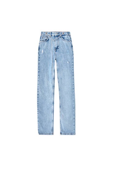 Straight fit jeans with chain detail