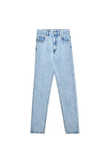 Jeans mom fit básicas - Algodão orgânico (pelo menos 50%)