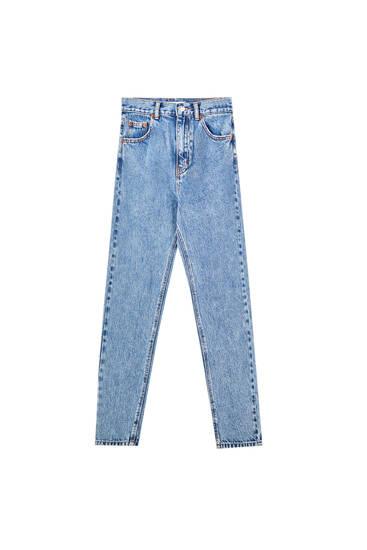Basic τζιν παντελόνι mom fit