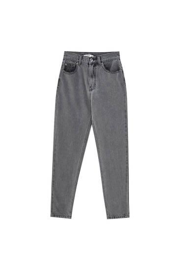 Базовые джинсы mom fit