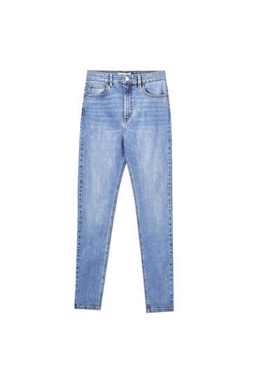 Τζιν παντελόνι ψηλόμεσο super skinny
