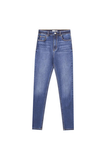 Jeans super skinny taille haute