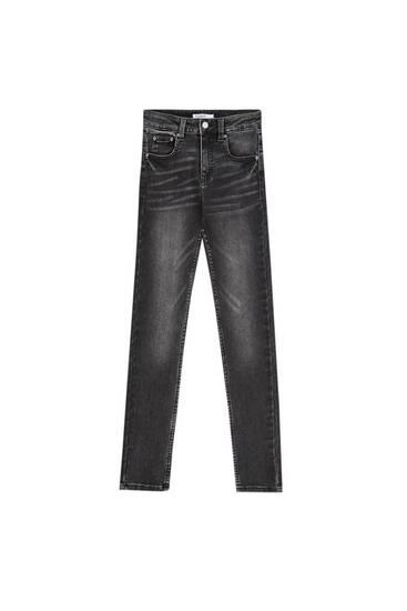Jeans skinny com cintura baixa