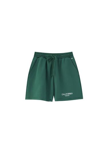 Green tennis Bermuda joggers