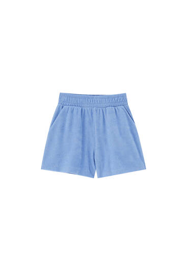 Towelling shorts with vent detail