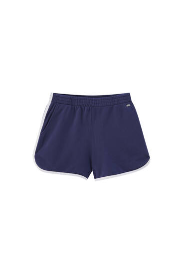 Sports shorts with ribbed detail