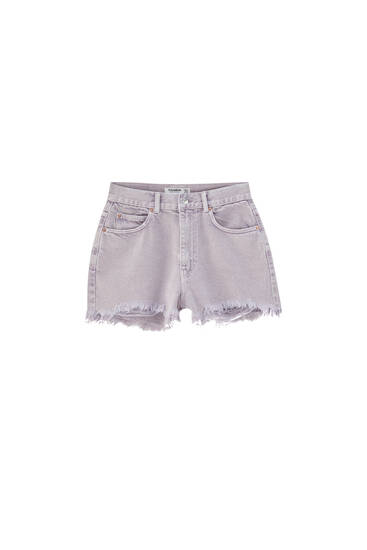Mom fit mauve denim shorts