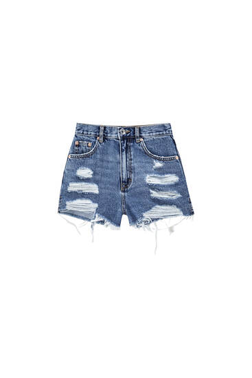 Mom fit denim shorts - ecologically grown cotton (at least 50%)