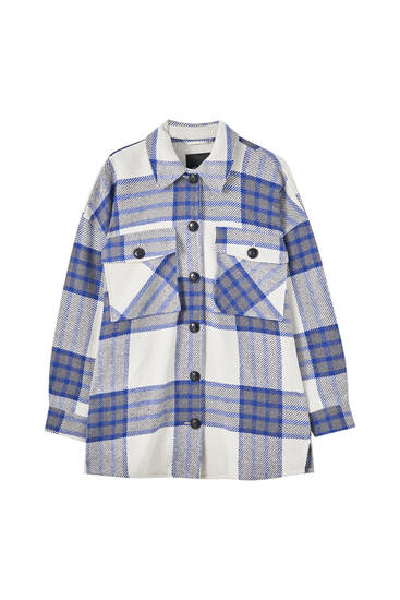 Blue check overshirt