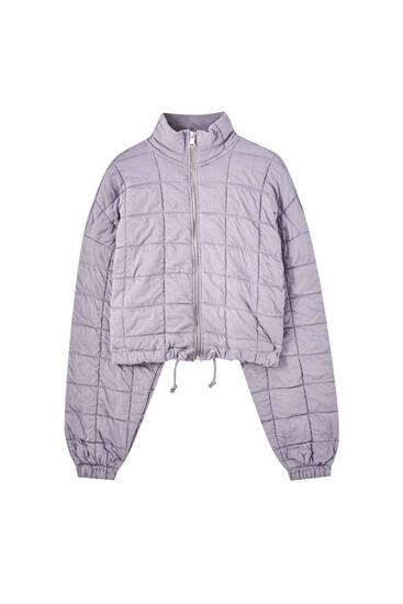 Mauve puffer jacket