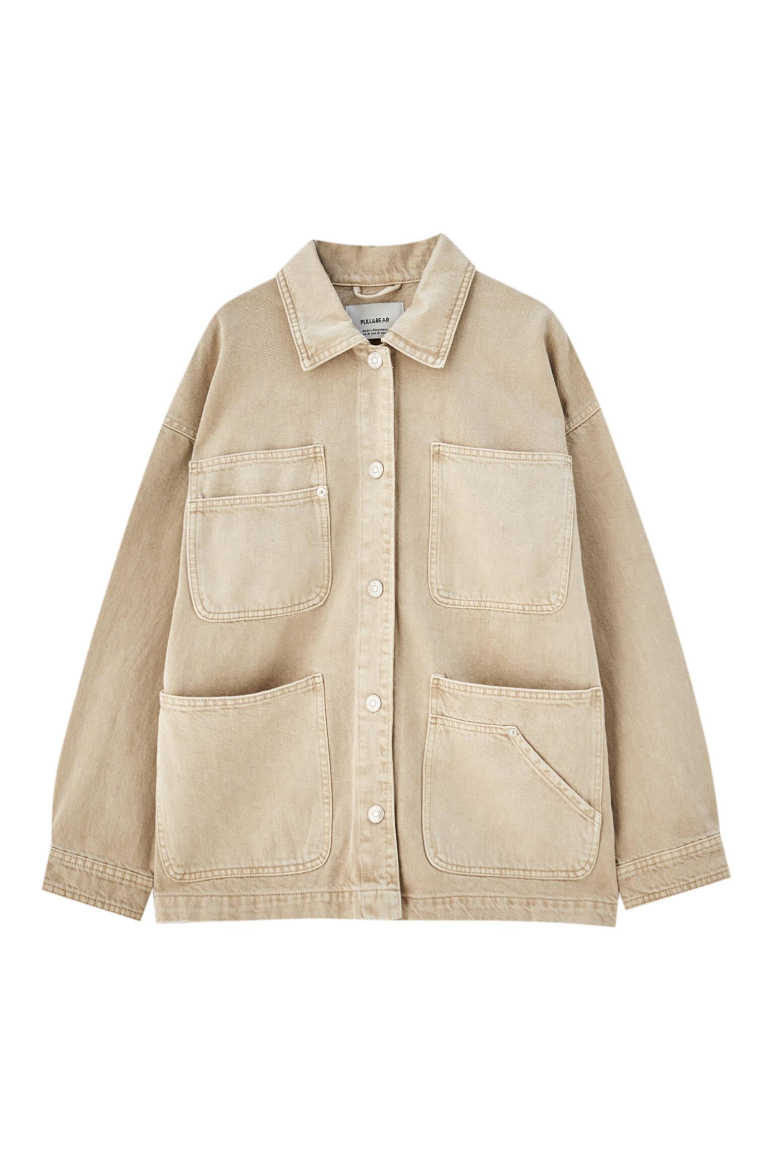 Песочный Куртка в стиле сафари - не менее 50% органического хлопка Pull & Bear
