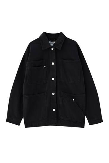 Cotton safari jacket - at least 50% ecologically grown cotton