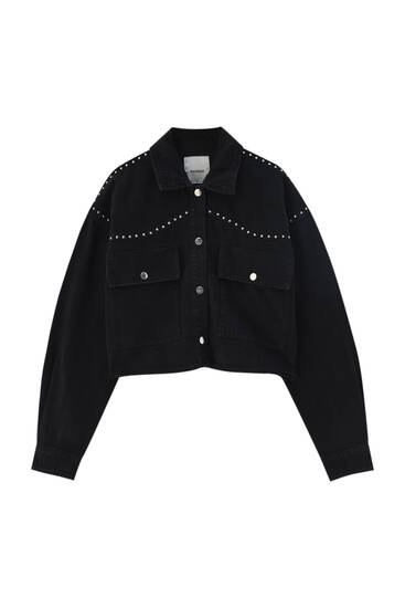 Cotton studded jacket