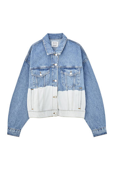 Tie-dye denim jacket