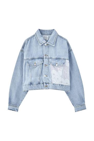 Denim patchwork jacket - Contains recycled cotton