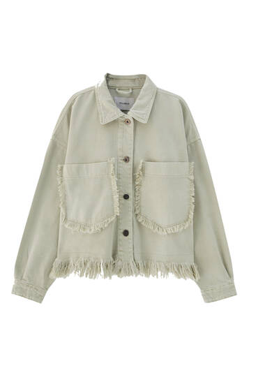 Safari jacket with fringing - ecologically grown cotton (at least 50%)