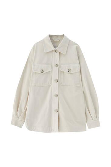 Basic cotton overshirt