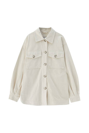 Basic cotton overshirt