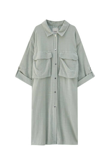 Long rustic overshirt