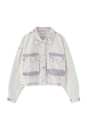 Tie-dye seamed jacket
