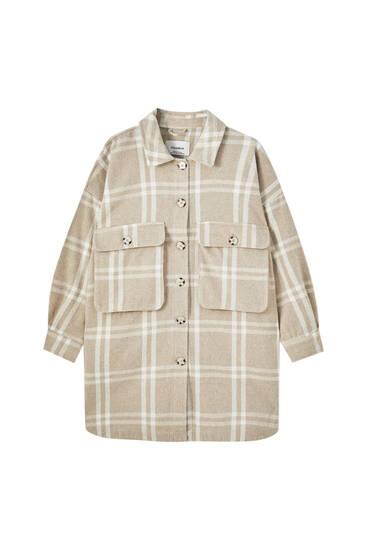 Μακρύ καρό overshirt