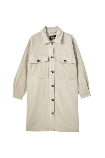 Long beige overshirt