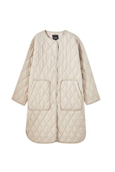 Manteau matelassé long