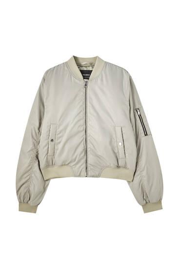 Basic bomber jacket with pockets