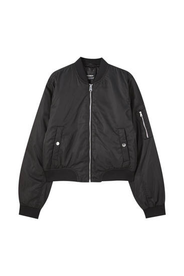 Basic bomber jacket with pockets