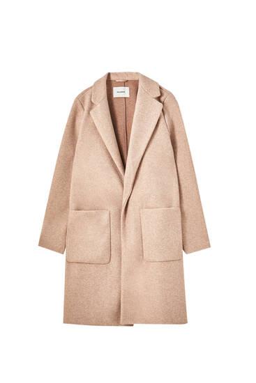 Manteau long en maille