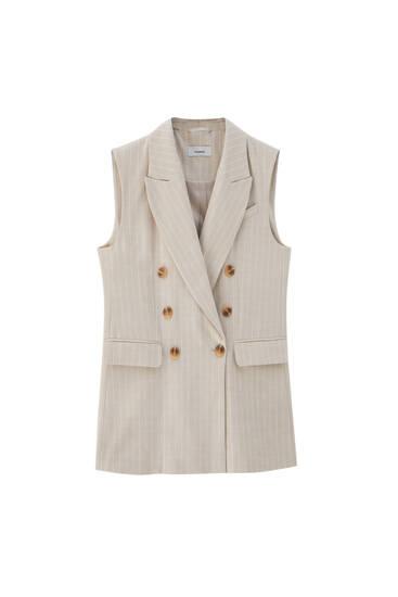 Rustic pinstripe waistcoat