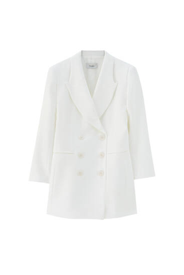Long white blazer