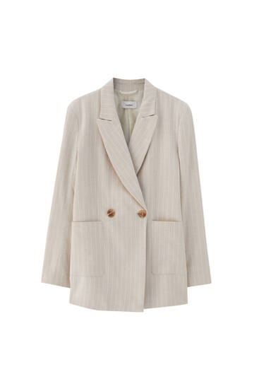 Rustic pinstripe blazer