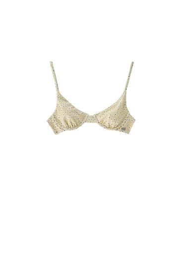Balconette floral bikini top