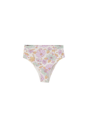 Floral bikini bottoms - recycled polyester (at least 50%)