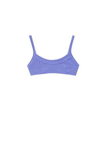 Terry cloth bikini top