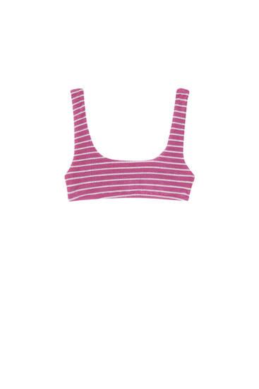 Textured bikini top