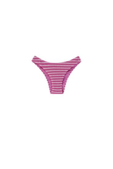 Bas de bikini texturé