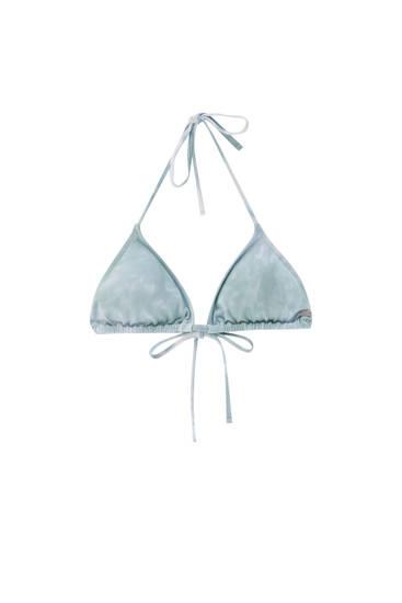 Top bikini triángulo tie-dye