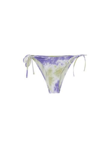 Tie-dye bikini bottoms
