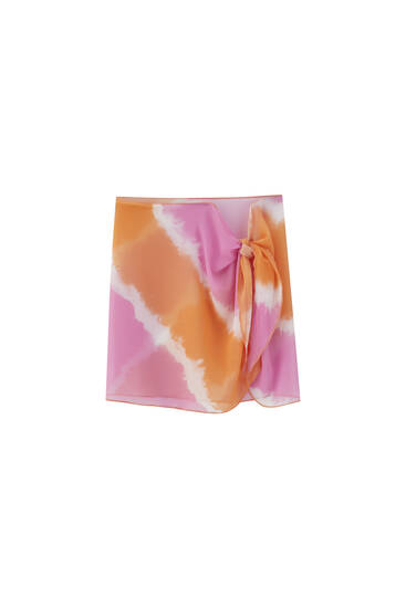 Falda pareo estampada