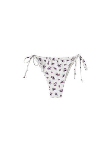 Animal print bikini bottoms