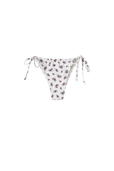 Printed bikini bottoms - recycled polyester (at least 50%)