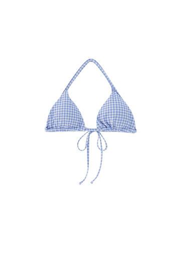 Gingham bikini top