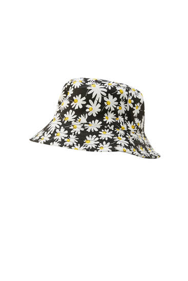 Reversible daisy bucket hat