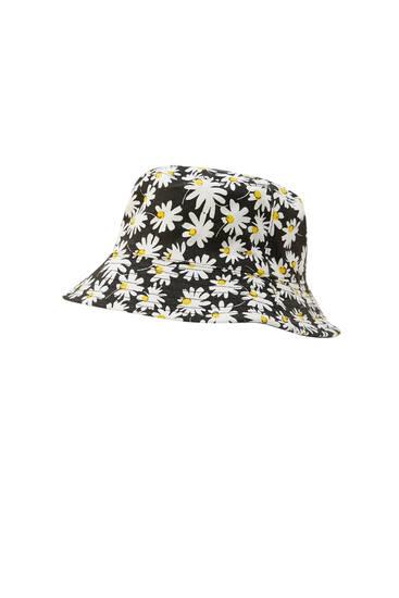 Reversible daisy bucket hat