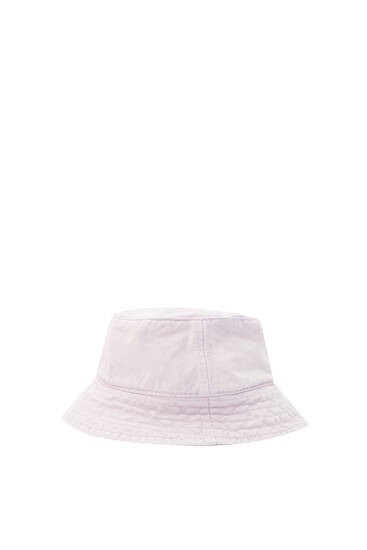 Faded cotton bucket hat