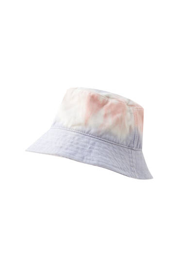 Multicoloured tie-dye bucket hat