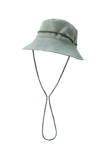 Bucket hat with cord